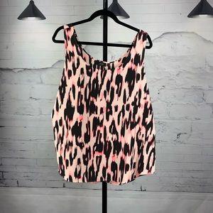Apt. 9 Pink Animal Print Camisole Tank        1746